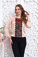 Стильная бежевая женская блуза Флор Arizzo 44-50  размеры