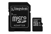 MicroSDHC 16GB UHS-I Class 10 Kingston + SD-adapter (SDC10G2/16GB)