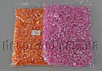 Камешки-половинки перл.AB 8 мм /250гр