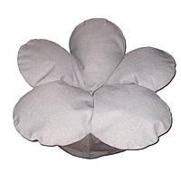 Бескаркасное кресло мешок Цветок из микро-рогожки