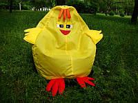 Детское кресло мешок груша Цыпленок 100*75 см