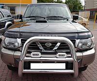 Дефлектор капота (мухобойка) Nissan Patrol (Y61) 1997–2004