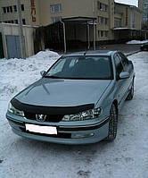 Дефлектор капота (мухобойка) Peugeot 406 1999-2003