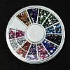 Стразы для дизайна ногтей в карусели, 2 мм,12 цветов, фото 2