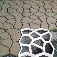 Форма пластиковая для тротуарных дорожек 44х44 см