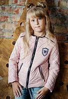 Демисезонная курточка для девочки Baby Angel M 782, цвет пудровый