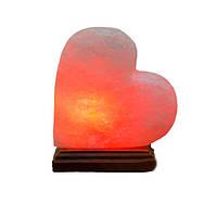 """Соляной светильник """"Сердце на боку с деревом"""" (3 кг) """"Планета соли"""""""
