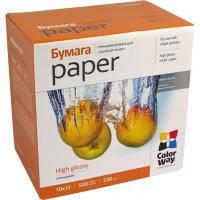 Фотобумага CW глянцевая 230г/м2, 10x15, 500л, картонная упаковка (PG2305004R)