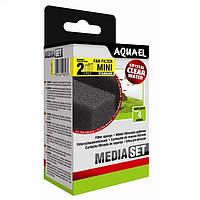 Aquael MEDIA SET STANDARD FANFILTER MINI вкладыш губка в фильтр Aquael FAN Mini Plus, 2шт