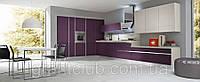 Современная крашенная фиолетовая шпонированная кухня без ручек RIGA фабрика AR-TRE (Италия)
