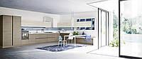Современная шпонированная белая кухня без ручек RIO фабрика AR-TRE (Италия)