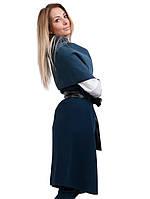 Кашемировая жилетка манто Турция синяя, фото 1