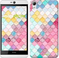 "Чехол на HTC Desire 826 dual sim Красочная черепица ""3703u-312"""