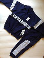 Качественный модный костюм RALPH LAUREN бомбер и штаны двухнитка