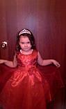Детская корона, диадема для девочки под серебро с прозрачными камнями, высота 4,5 см., фото 9
