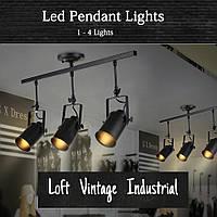 Светильник настенно-потолочный [ Spot tube black Loft ] ( 1 - 4  Lamp )