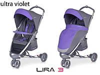 Детская прогулочная Коляска-трость LIRA 3  Ultra Violet - Euro-Cart Польша - пятиточечный ремень чехол корзина