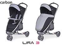Детская прогулочная Коляска-трость LIRA 3  Carbon - Euro-Cart Польша - пятиточечный ремень чехол корзина