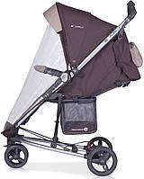 Детская прогулочная Коляска-трость LIRA 3  Chocolate - Euro-Cart Польша - пятиточечный ремень чехол корзина