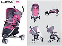 Детская прогулочная Коляска-трость LIRA 3  Magenta - Euro-Cart Польша - пятиточечный ремень чехол корзина