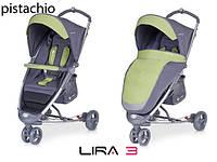 Детская прогулочная Коляска-трость LIRA 3  Pistachio - Euro-Cart Польша - пятиточечный ремень чехол корзина