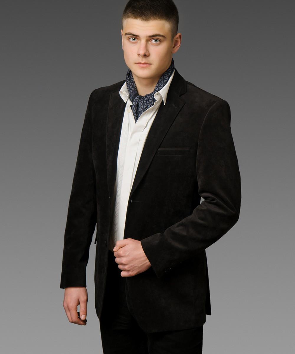 Пиджак мужской вельветовый West-Fashion модель А-200 черный