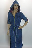 джинсовий жіночий плащ з капюшоном