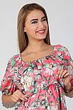 Платье для беременных и кормления Roxolana DR-27.101, цветы на коралловом фоне, фото 3