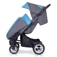 Детская прогулочная Коляска-трость RUNNER Ocean Blue - Euro-Cart Польша - пятиточечный ремень, чехол, корзина