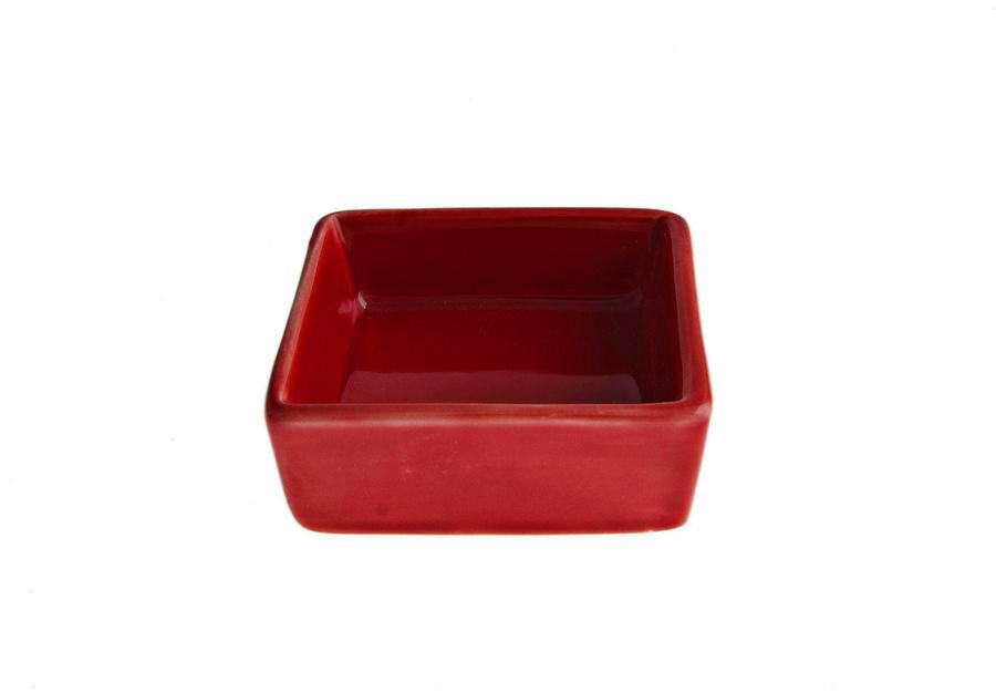 Салатник квадратный FoREST серия Fudo цвет красный (6,5 см, 50 мл)