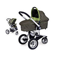 Детская Универсальная Коляска-трансформер ELAN Olive - Euro-Cart Польша - люлька + прогулочный блок