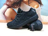 Кроссовки женские Adidas yeezy boost 350 (реплика) черные 36 р., фото 1