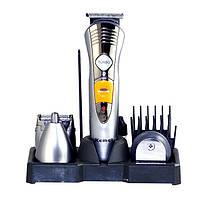 Набор для стрижки волос Kemei KM 580-a: 4 насадки, турбо режим, 3 гребня 3, 6, 10 мм, аккумулятор