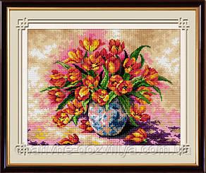 """Набор алмазной вышивки (рисования камнями) """"Яркие тюльпаны"""""""