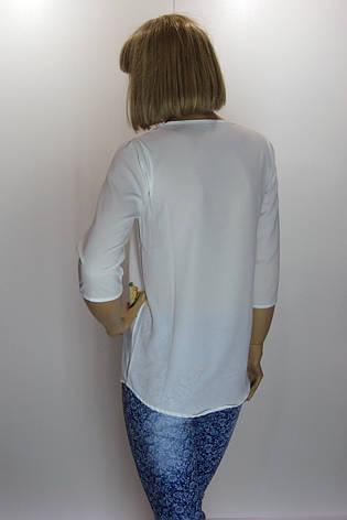 блуза белая с цветочным принтом Caro Ledi, фото 2