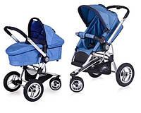 Детская Универсальная Коляска-трансформер ELAN Ocean Blue - Euro-Cart Польша - люлька + прогулочный блок