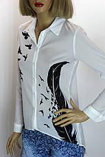 Блуза белая с принтом Бутіка, фото 2