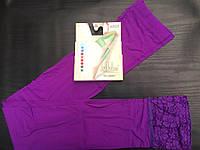 """Лосины женские """"JUJUBE""""  80DEN универсальный размер 3/8,цвет фиолетовый"""