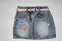 Юбка джинсовая р.4-6лет