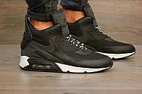 Кроссовки мужские Nike Air Max 90 Sneakerboot Winter 2070 черные