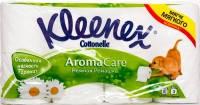 Трехслойная Туалетная бумага Kleenex Aroma Care ароматизированная Нежная Ромашка 8шт