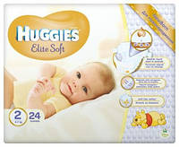 Подгузник Huggies Elite Soft  2(4-7кг) 24 штуки