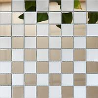 Мозаика зеркальная Vivacer BK-6/ZM-06 глянец+матовый