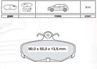 Тормозные колодки задние Ford Scorpio Sierra ABS