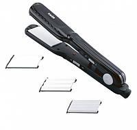 Выпрямитель для волос с насадками гофре MAGIO MG175 BL, 3 насадки, 25Вт, 220В, керамическое покрытие