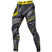 Компрессионные штаны Venum Snaker Spats Black Yellow