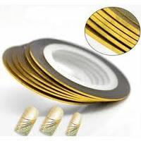 Лента для дизайна ногтей золото