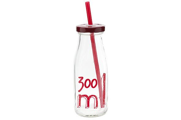 Бутылка для напитков 300мл с соломкой C&T