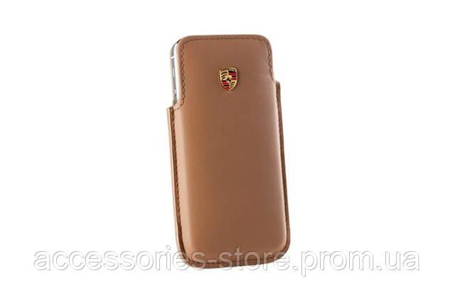Кожаный чехол для iPhone 5 Porsche Case for iPhone 5, Cognac