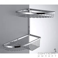 Аксессуары для ванной комнаты Colombo Design Полочка-решётка угловая двойная Colombo Complementi B9607